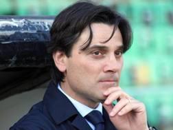 L'allenatore del Milan Vincenzo Montella. Ansa