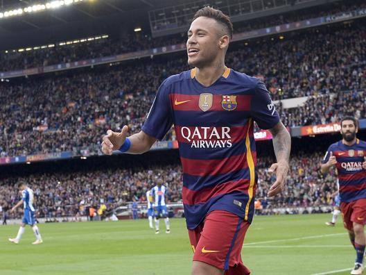 La stella del Barcellona Neymar. Afp