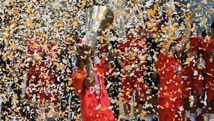 La festa del CSKA dopo la vittoria di maggio. Ap