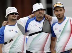 Marco Galiazzo, Michele Frangilli e Mauro Nespoli, oro a squadre a Londra 2012 AP