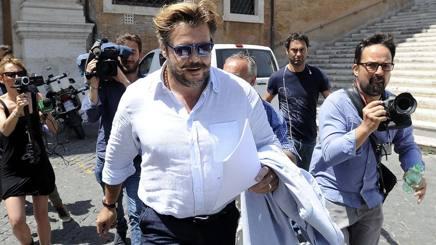 Andrea Lo Cicero ieri in Campidoglio. LaPresse