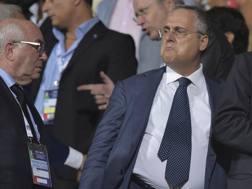 Il presidente della Lazio Claudio Lotito. LaPresse