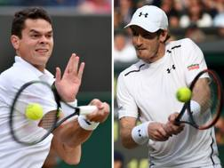 Milos Raonic vs Andy Murray. Afp