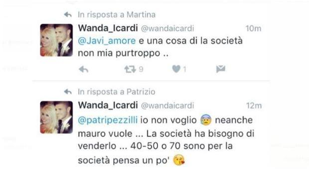 Alcuni dei tweet cancellati da Wanda Nara
