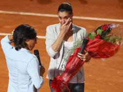 Il tributo a Flavia Pennetta a Roma due mesi fa. Getty