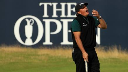 Phil Mickelson incredulo. Getty