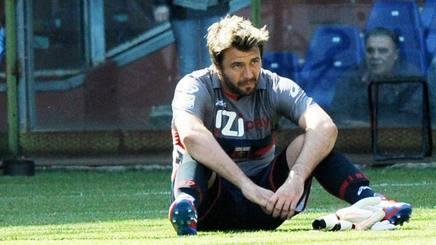 Sebastien Frey con la maglia del Genoa. Lapresse
