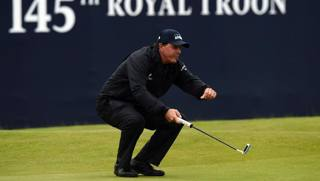 Phil Mickelson al Royal Troon. Afp