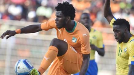 Frank Kessie, 19 anni, con la maglia della Costa d'Avorio. Afp