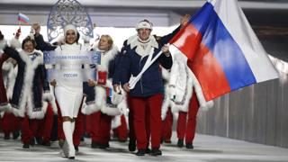 La delegazione russa ai Giochi di Sochi. Ap