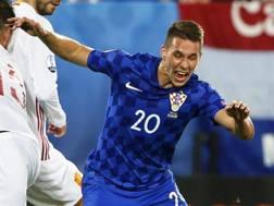 Marko Pjaca con la maglia della Croazia. Ansa