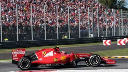 Kimi Raikkonen,36 anni, al GP di Monza lo scorso settembre durante il GP d'Italia. Lapresse