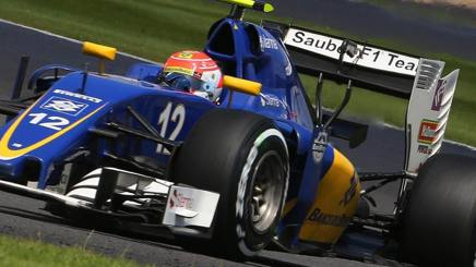 Luiz Felipe Nasr, 24 anni, durante il GP d'Inghilterra a bordo della sua Sauber. Epa