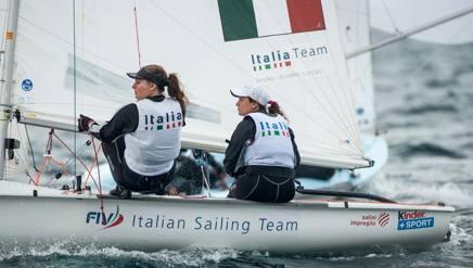 Roberta Caputo e Alice Sinno in azione. Foto Coni
