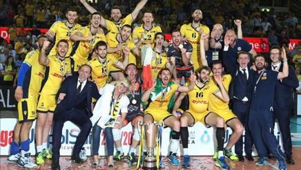 La festa di Modena per la vittoria dell'ultimo scudetto LEGAVOLLEY