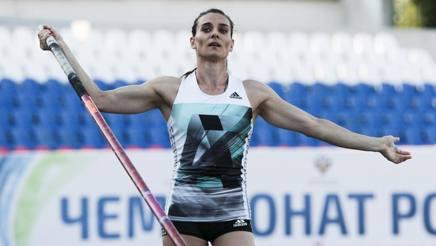 Elena Isinbayeva, 34 anni, due ori e un bronzo alle Olimpiadi. Ap