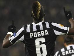 Paul Pogba quando indossava la maglia numero 6 alla Juve