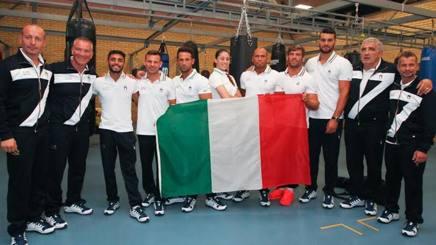 I sette azzurri in partenza per Rio presentati oggi al centro tecnico  federale di Assisi