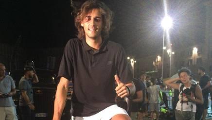Gianmarco Tamberi ieri ad Ancona