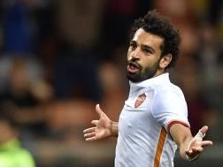 Mohammed Salah, attaccante egiziano della Roma. LaPresse