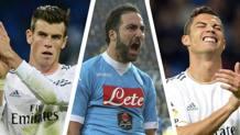 Gareth Bale (100 milioni), Gonzalo Higuain (94,7) e Cristiano Ronaldo (94)