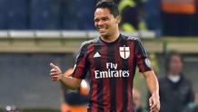 L'attaccante colombiano del Milan Carlos Bacca, 29 anni. Ansa