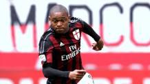 Luiz Adriano, attaccante brasiliano del Milan. Forte