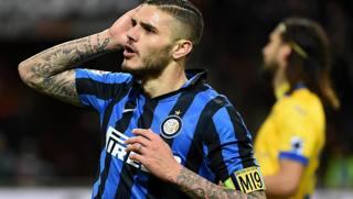 L'attaccante argentino Mauro Icardi, 23 anni. Ansa