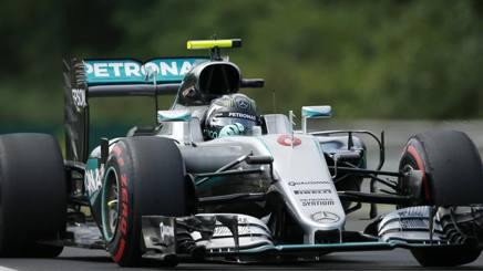 Il pilota della Mercedes Nico Rosberg, 31 anni, � stato il pi� veloce durante le Libere3 del GP d'Ungheria. Ap