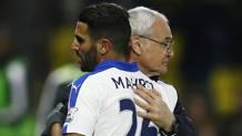Ranieri e Mahrez. Reuters