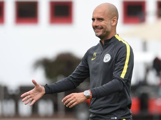 Pep Guardiola, 45 anni, prima stagione sulla panchina del Manchester City. Afp