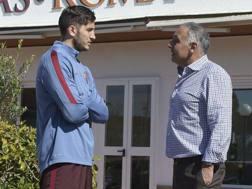 Da sinistra, Kostas Manolas, 25 anni, difensore greco della Roma, e James Pallotta, 58, presidente del club.