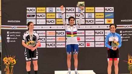 Elisa Balsamo, 18 anni, campionessa del mondo nell'omnium