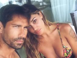 Marco Borriello e Belen Rodriguez a Ibiza. Instagram