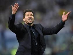 Il tecnico dell'Atletico Madrid Diego Simeone. Epa