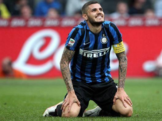 L'attaccante dell'Inter Mauro Icardi, 23 anni. Forte