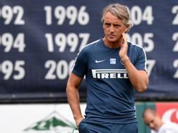 Il tecnico dell'Inter Roberto Mancini. Getty
