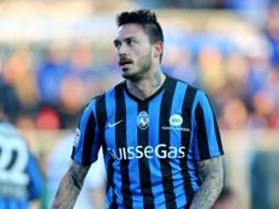Mauricio Pinilla, attaccante cileno dell'Atalanta. LaPresse