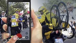 Chris Froome trasformato in Pokemon: uno dei tanti fotomontaggi della rete
