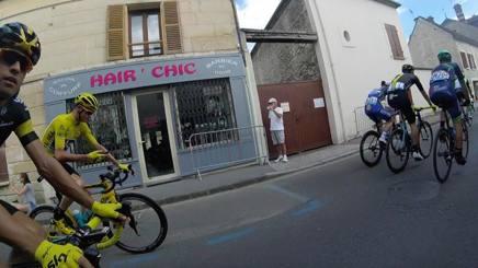 Chris Froome durante l'ultima tappa del Tour