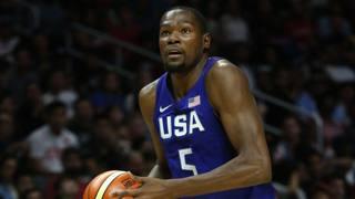 Kevin Durant miglior marcatore  contro la Cina. Afp