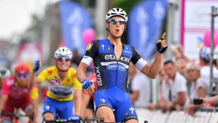 Matteo Trentin, 26 anni, vince a Herstal. Afp