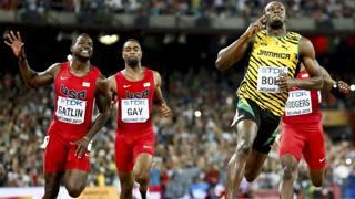 Mondiali  di Pechino 2015: Bolt batte Gatlin REUTERS