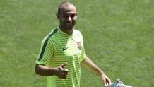 Javier Alejandro Mascherano, 32 anni, ha rinnovato per tre anni col Barcellona. Afp