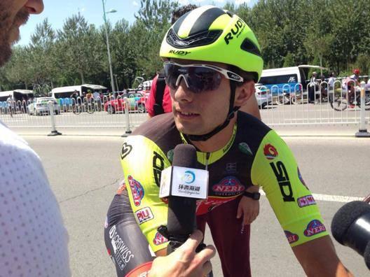 Jakub Maerczko, 22 anni, intervistato dopo la vittoria nell'undicesima tappa
