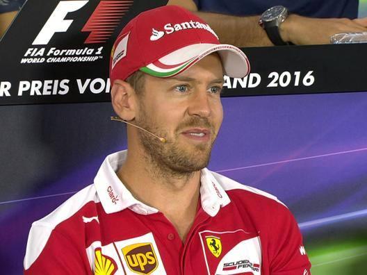 Sebastian Vettel in conferenza stampa in Germania