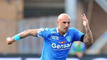Massimo Maccarone, attaccante dell'Empoli. Lapresse