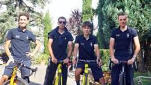 Da sinistra Fabio Aru, Vincenzo Nibali, Diego Rosa e Damiano Caruso