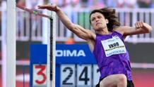 Ivan Ukhov in gara nell'alto. Afp