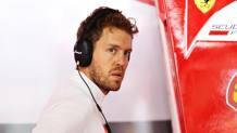Sebastian Vettel deluso dopo le qualifiche in Germania. Getty